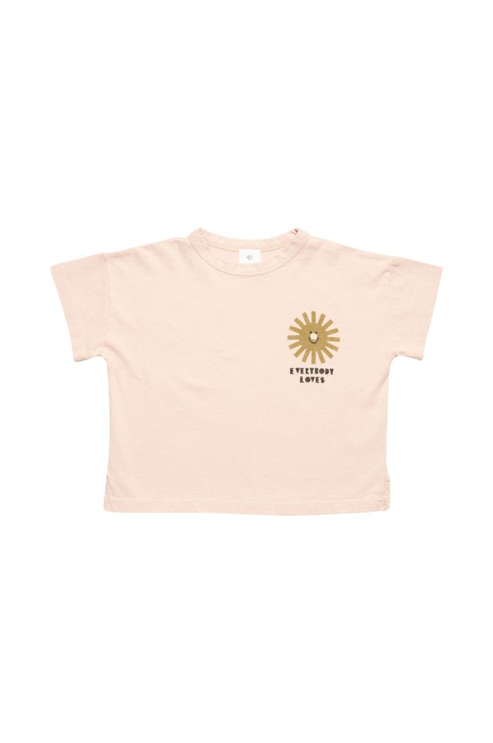 Wynken Wide Tee Pink / Golden