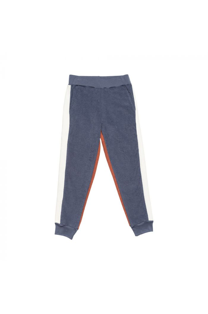 Wynken Side Panel Track Pant Blue / Deep Coral / Ecru