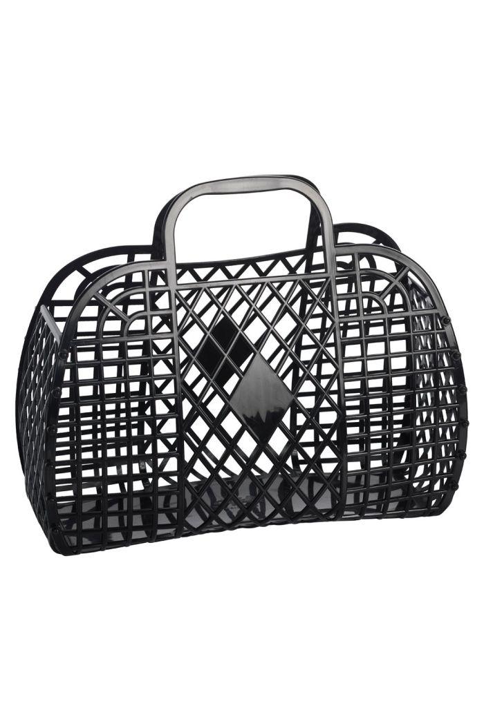 Sun Jellies Retro Basket Large Black