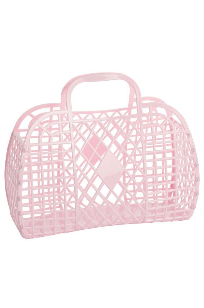 Sun Jellies Retro Basket Large Pink