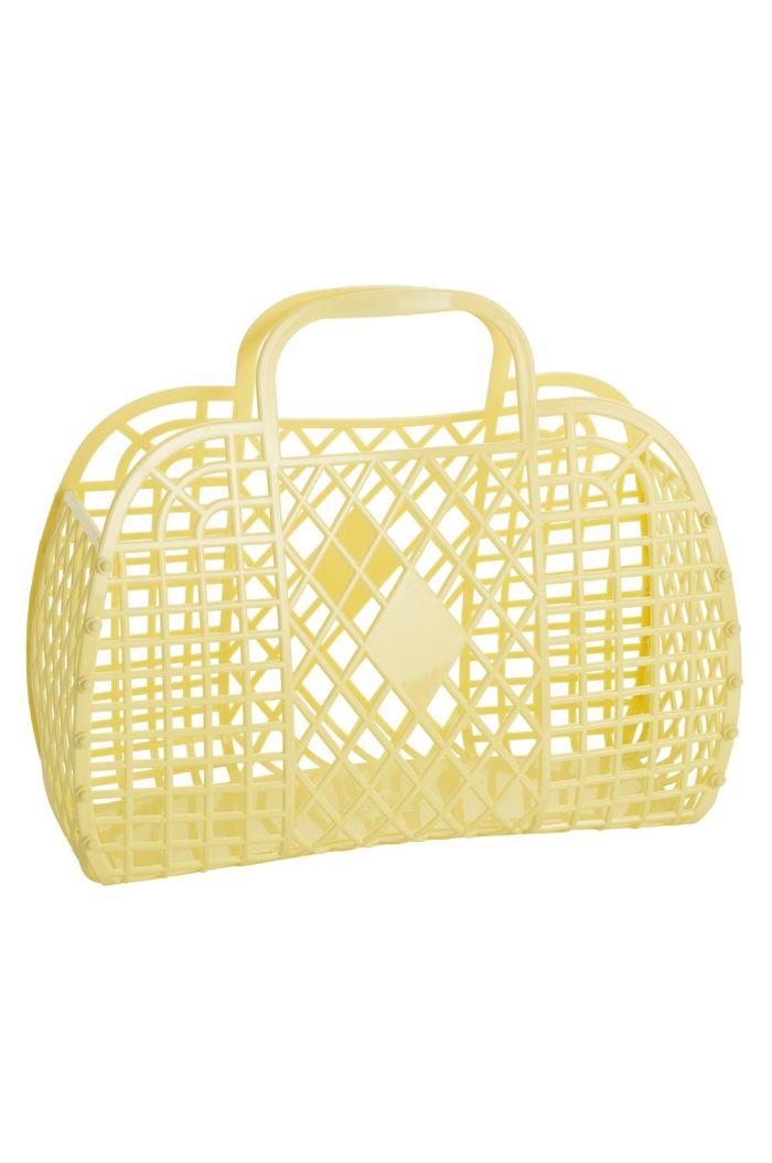 Sun Jellies Retro Basket Large Yellow_1