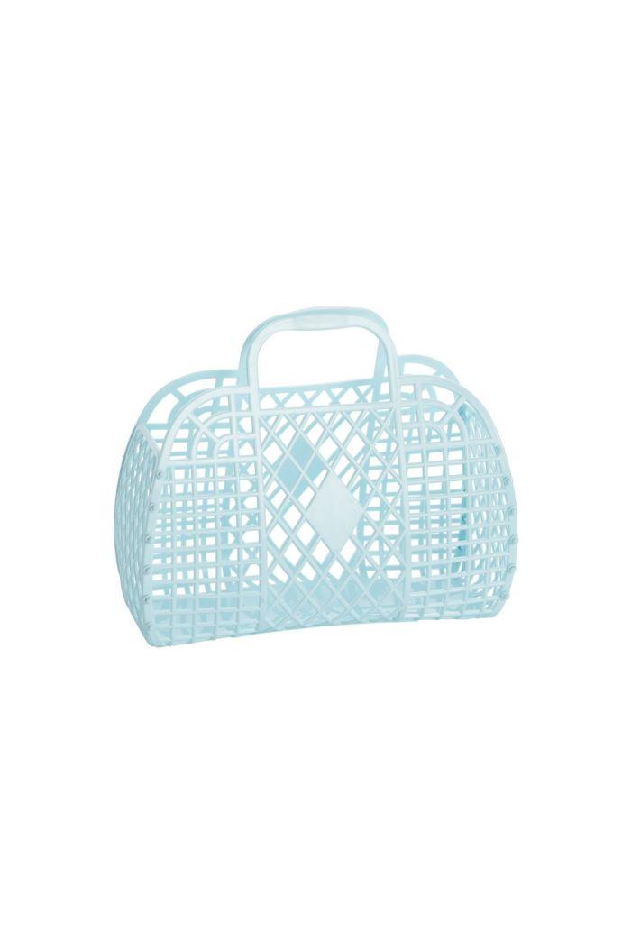 Sun Jellies Retro Basket Small Blue