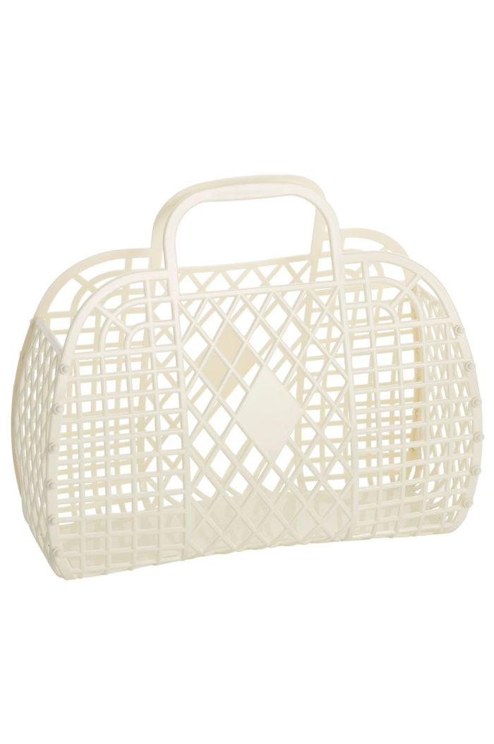 Sun Jellies Retro Basket Large Cream