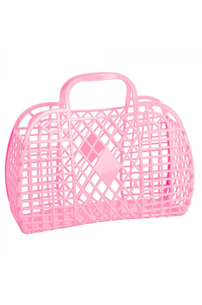 Sun Jellies Retro Basket Large Bubblegum Pink