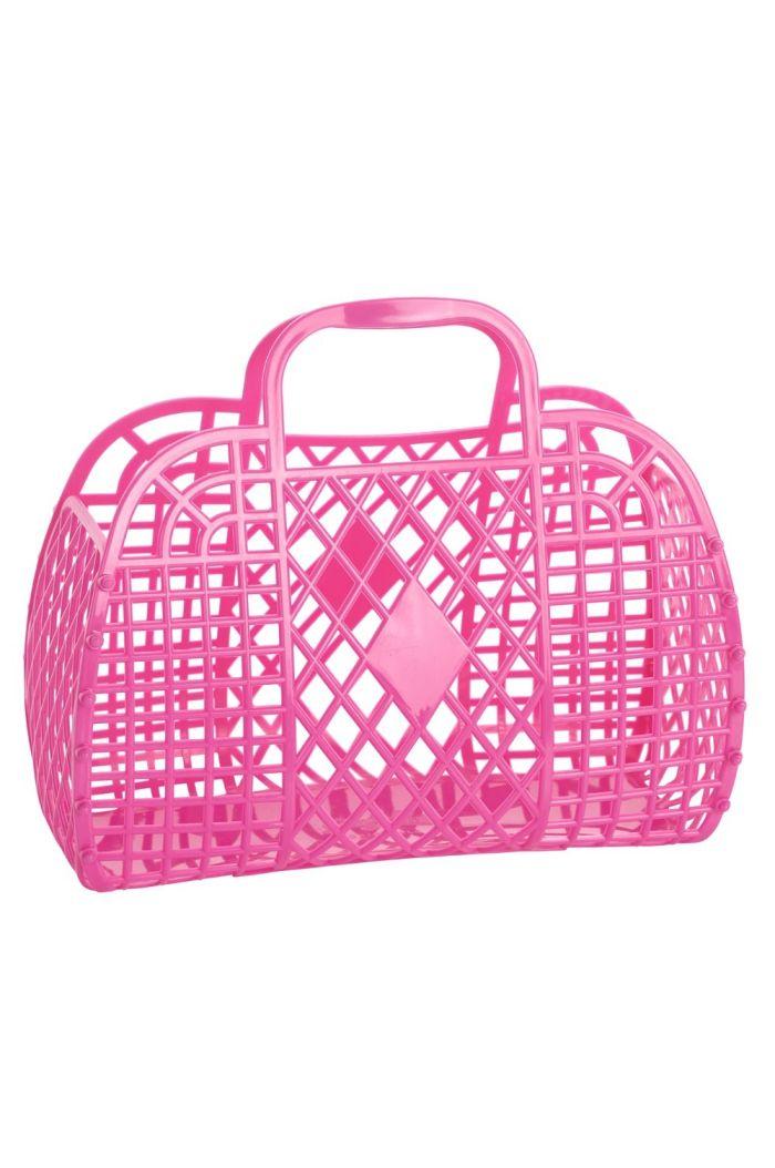 Sun Jellies Retro Basket Large Berry Pink
