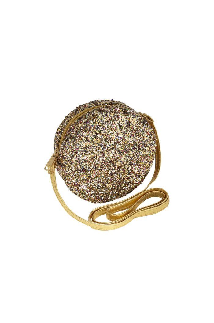 Mimi & Lula Round Glitter Bag Gold