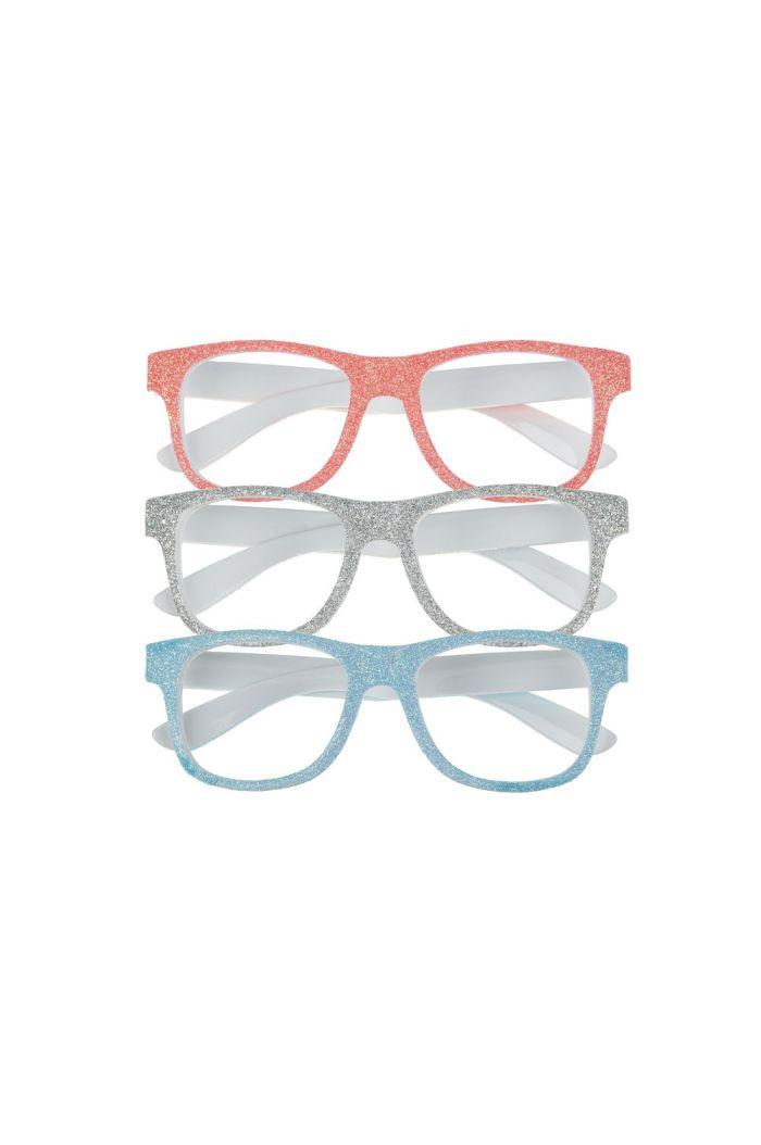 Mimi & Lula Glitter Glasses White