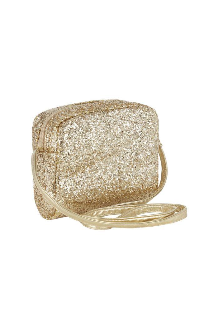 Mimi & Lula Mimi Glitter Cross Body Bag Gold