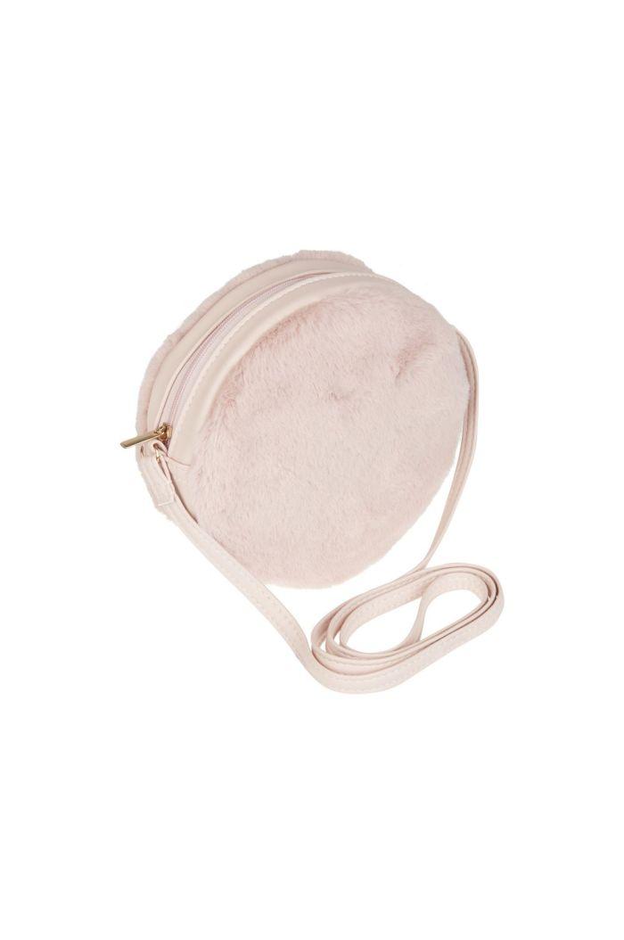 Mimi & Lula Furry Round Bag Pink _1