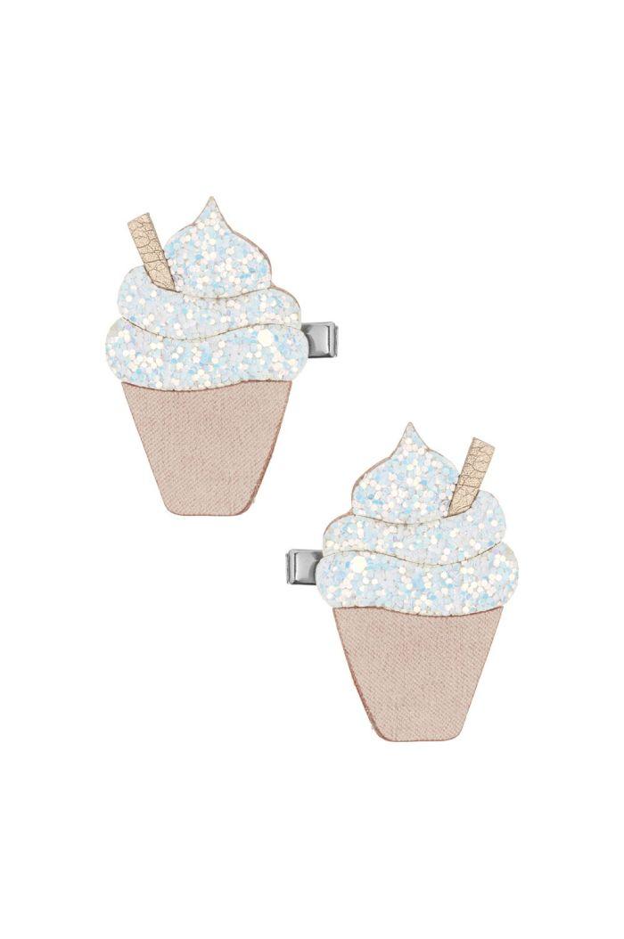 Mimi & Lula Glitter Ice Cream Clips White