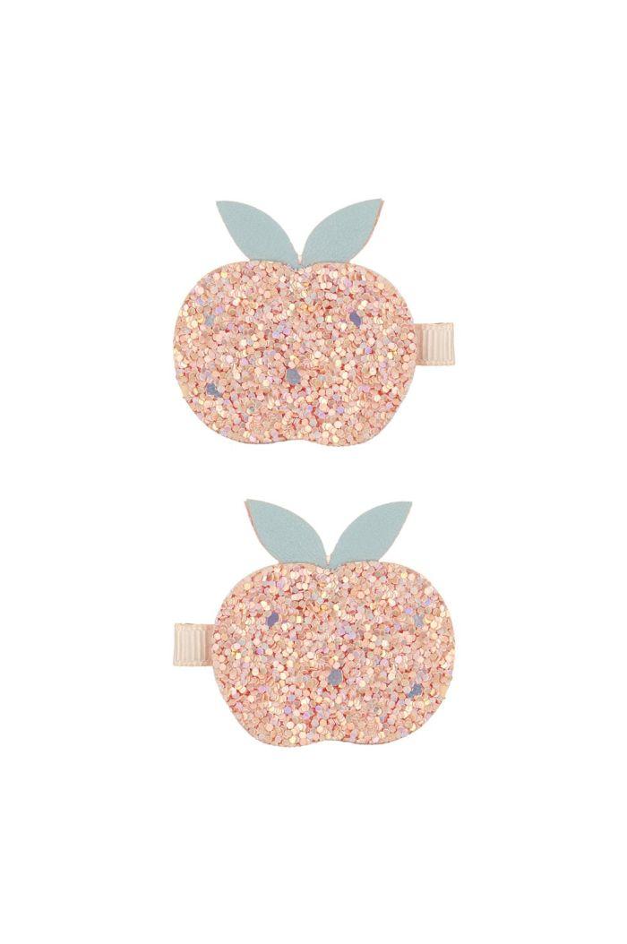 Mimi & Lula Glitter Peach Clips Peach