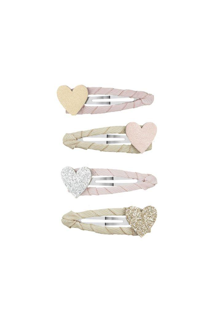 Mimi & Lula Sparkle Heart Clic Clacs Pink