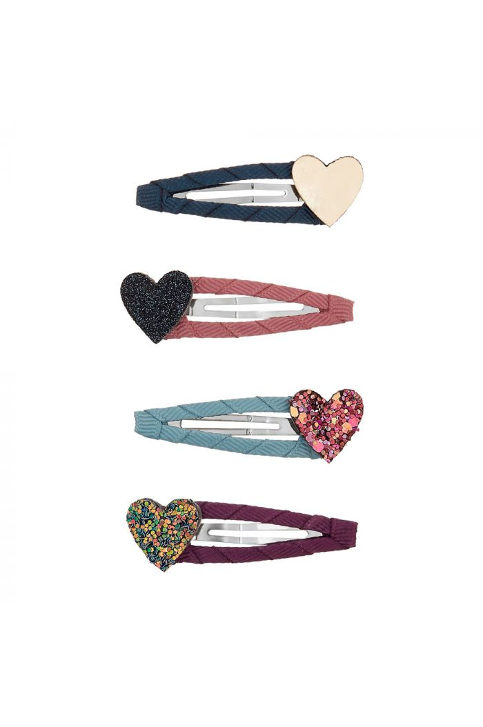 Mimi & Lula 4x Jazzy Heart Clic Clacs _1