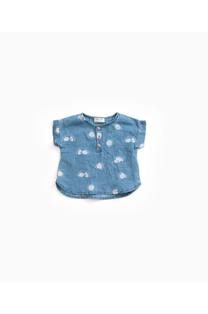 Play Up Printed Woven Shirt Denim