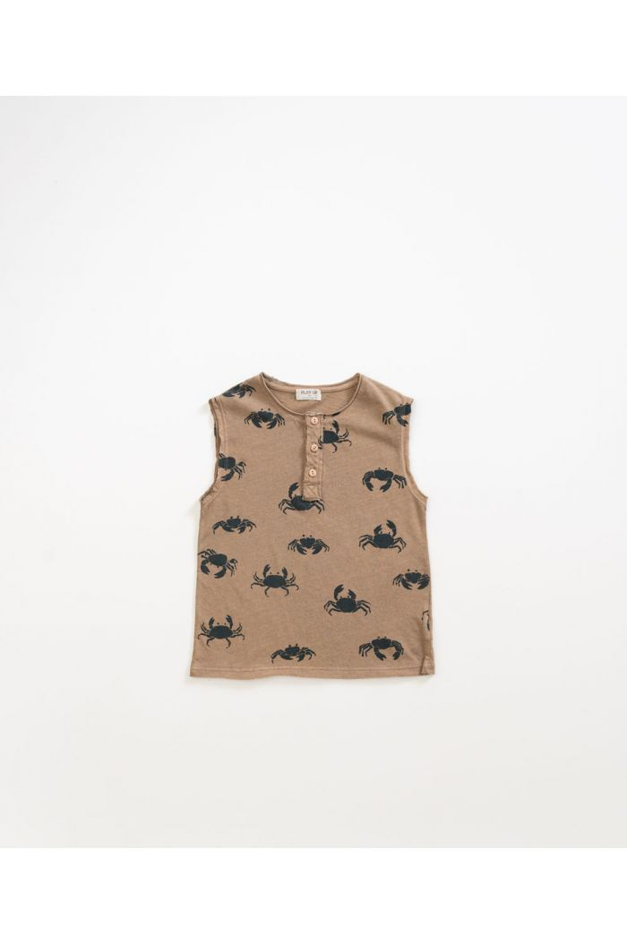 Play Up Printed Jersey Sleeveless T-shirt Hemp