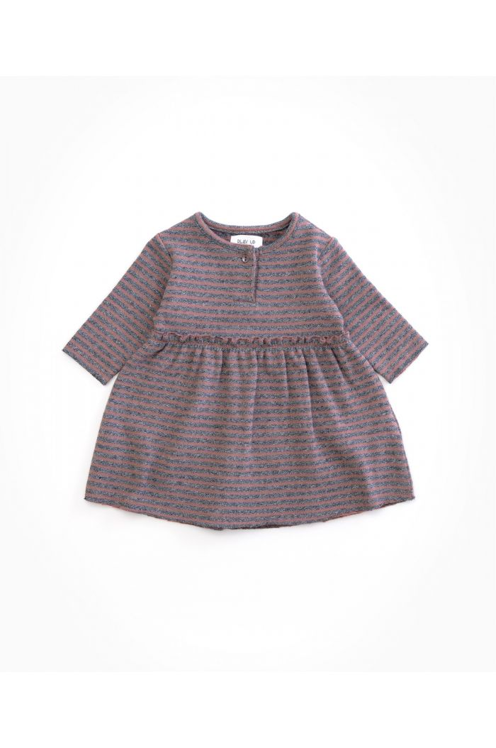 Play Up Baby Striped Jersey Dress Purplewood_1