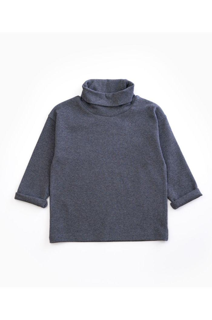 Play Up Kids Rib T-shirt Grey Melange_1