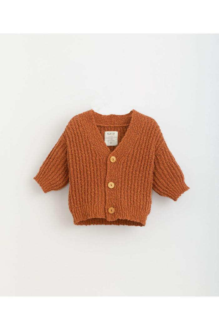 Play Up Knitted Cardigan Anise_1