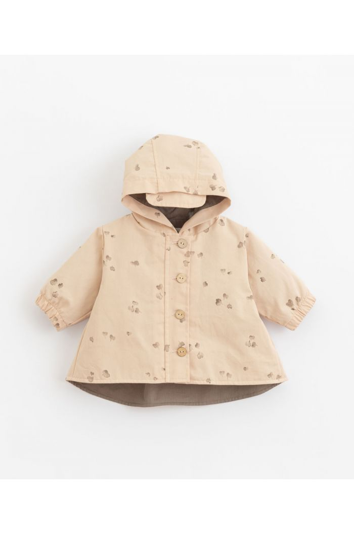 Play Up Printed Twil Parka Girl Egg_1