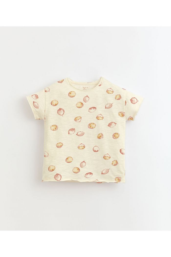 Play Up Printed Flamé Jersey T-Shirt Dandelion_1