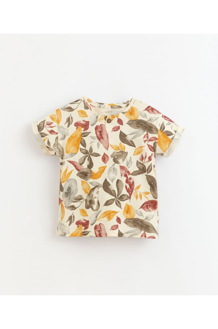 Play Up Printed Jersey T-Shirt Dandelion_1