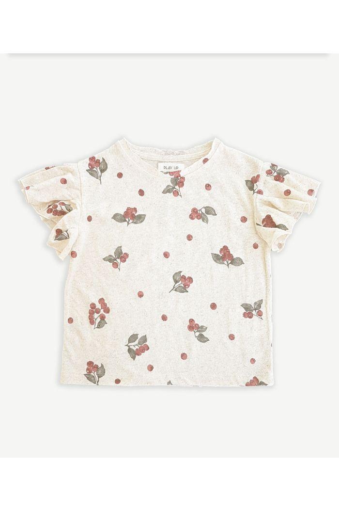 Play Up Printed Jersey T-Shirt Mushroom_1