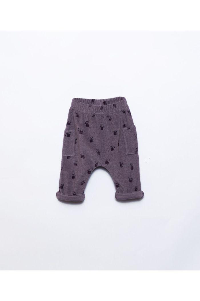 Play Up Printed Plush Trousers Lavander_1