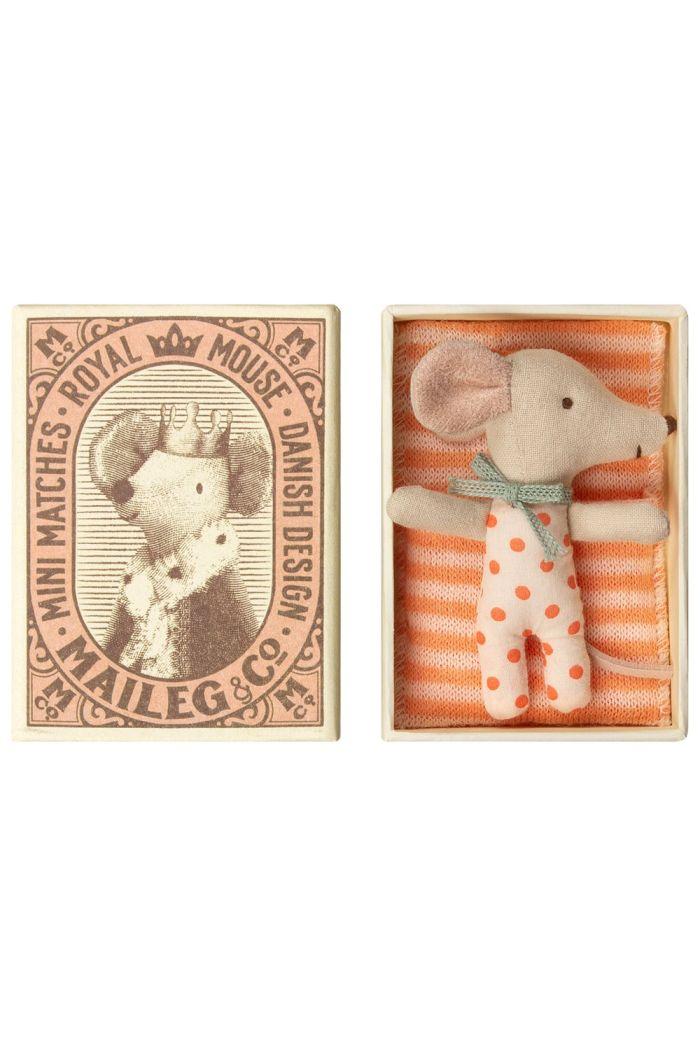 Maileg Baby mouse, Sleepy/wakey in box - Girl _1