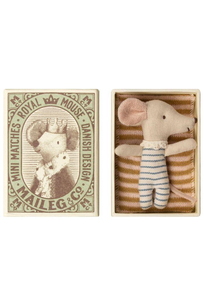Maileg Baby mouse, Sleepy/wakey in box - Boy _1