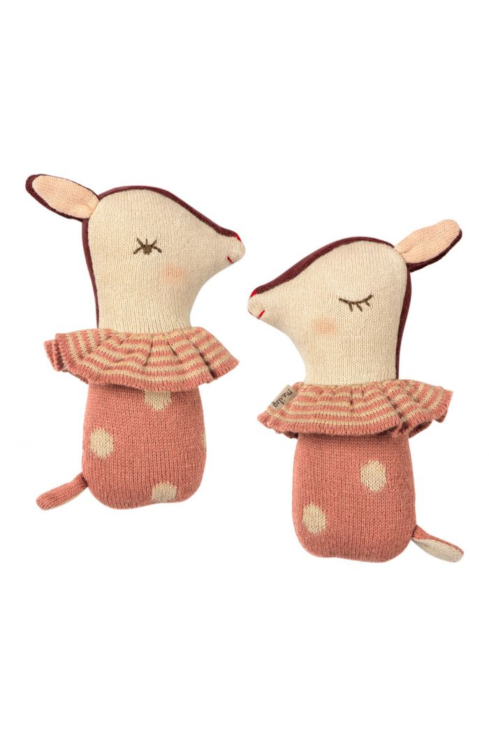 Maileg Bambi rattle - Rose _1