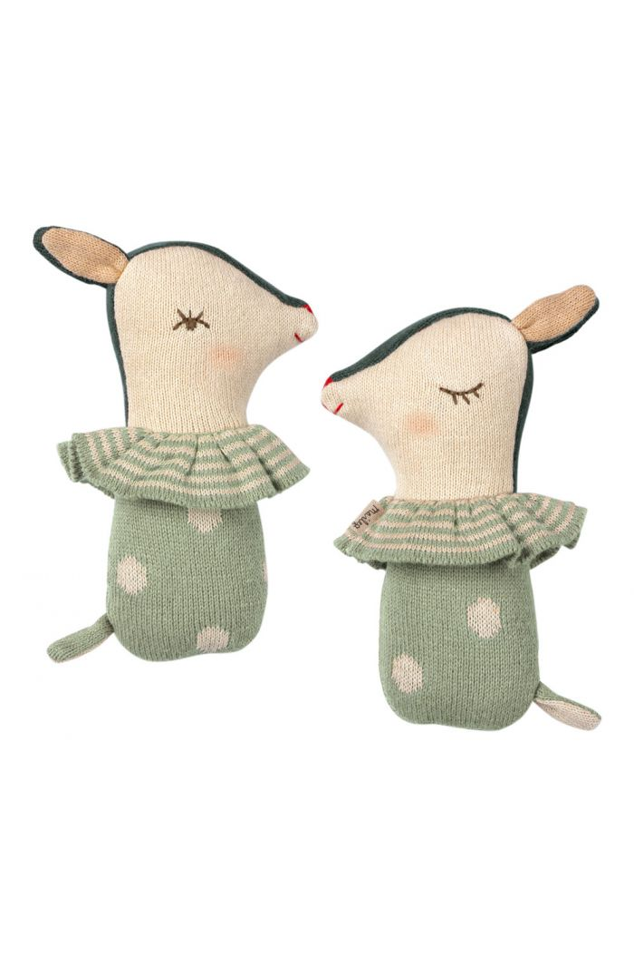 Maileg Bambi rattle - Dusty mint _1