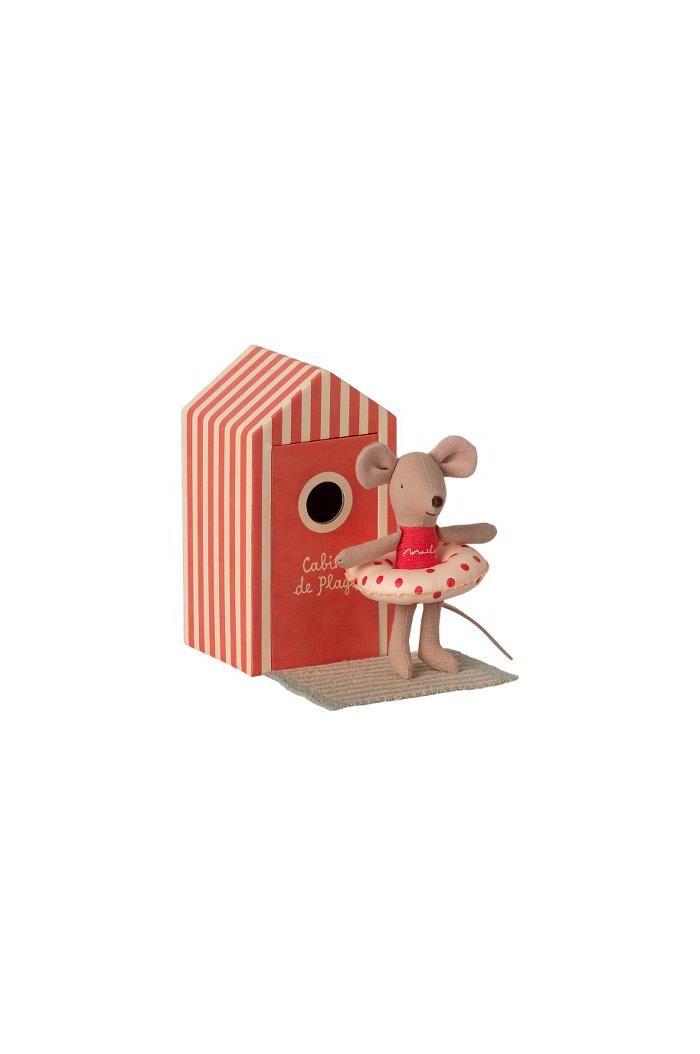 Maileg Beach mice, Little Sister in cabin de Plage _1