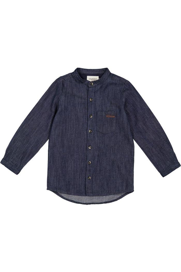 MarMar Cph Theobald Denim shirt Dark Denim Blue_1