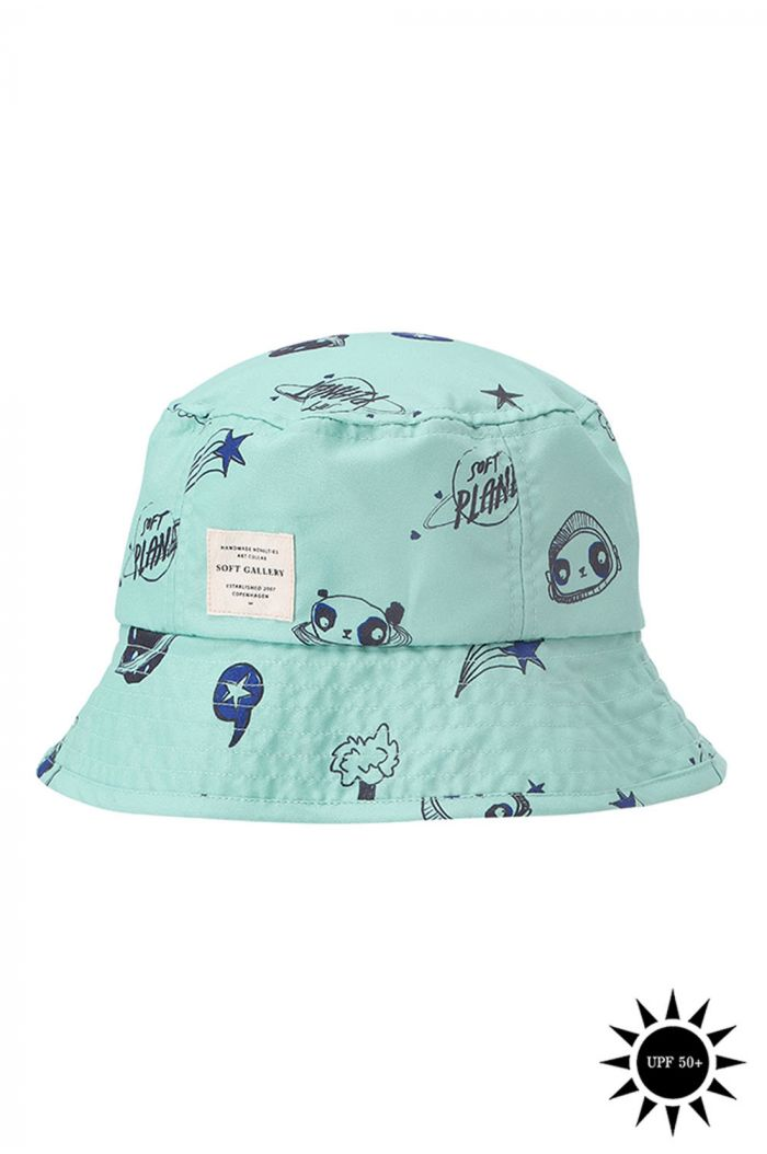 Soft Gallery Camden Hat, Ocean Wave All-over print Space Swim