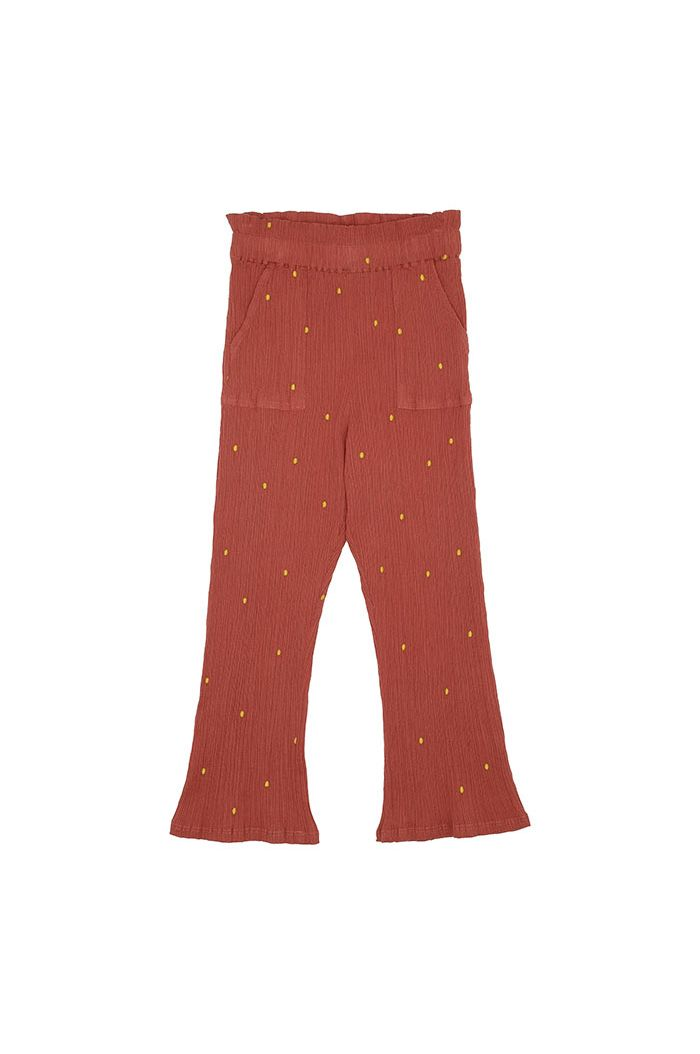 Soft Gallery Francine Pants Cinnabar, All-over print Dotty Emb