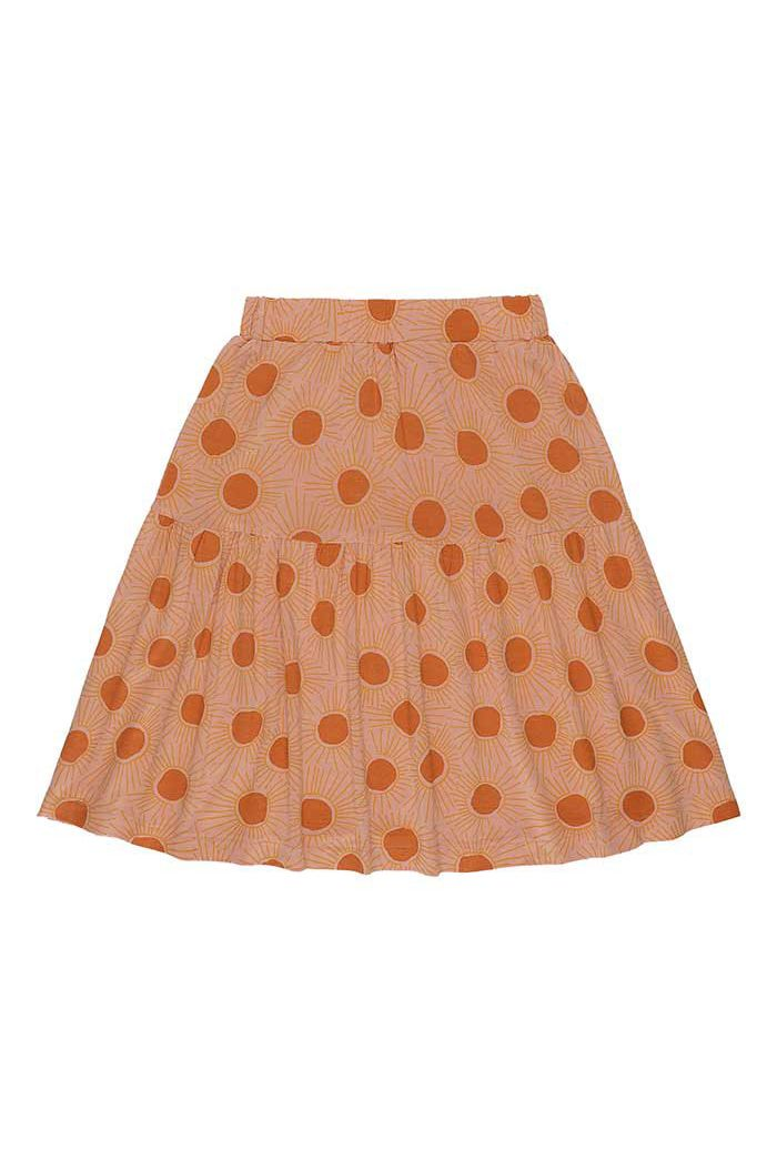 Soft Gallery Edel Skirt Peach Bloom, All-over print Sunshine