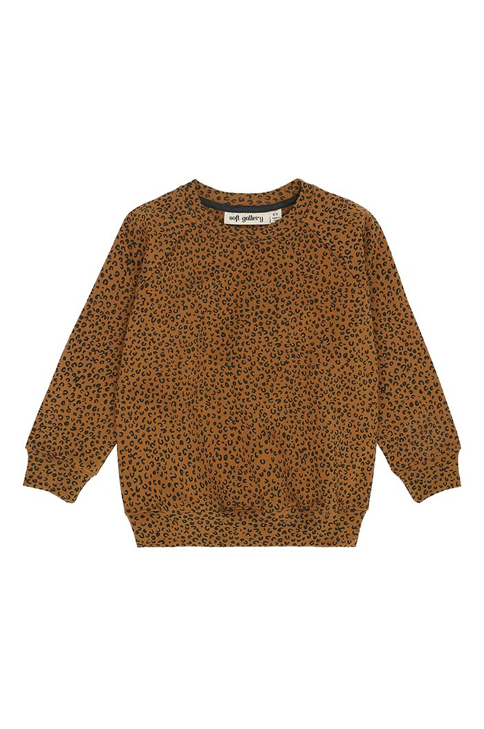 Soft Gallery Chaz Sweatshirt Golden Brown, All-over print Leospot M_1