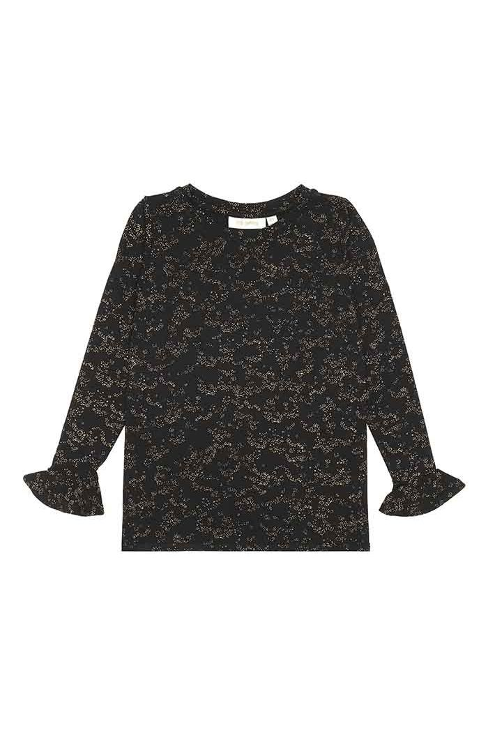 Soft Gallery Elia T-shirt Jet Black, All-over print Flowerdust_1