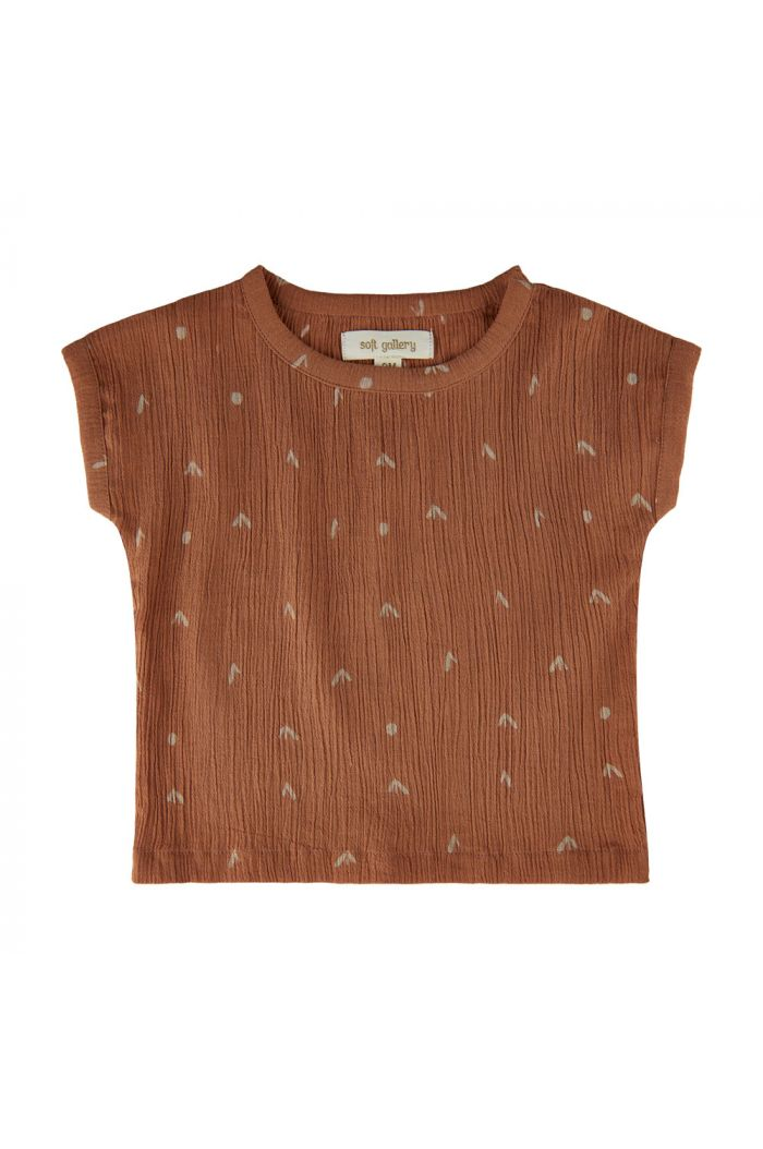 Soft Gallery Huxley T-shirt Hazel, All-over print Sprouts_1