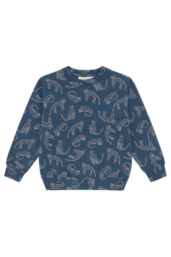 Soft Gallery Alexi Sweatshirt Majolica Blue, All-over print Loeline_1