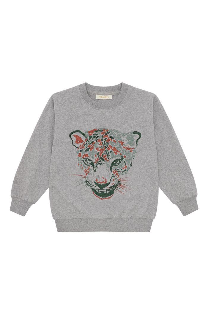 Soft Gallery Konrad Sweatshirt Grey Melange, Raptor Emb._1