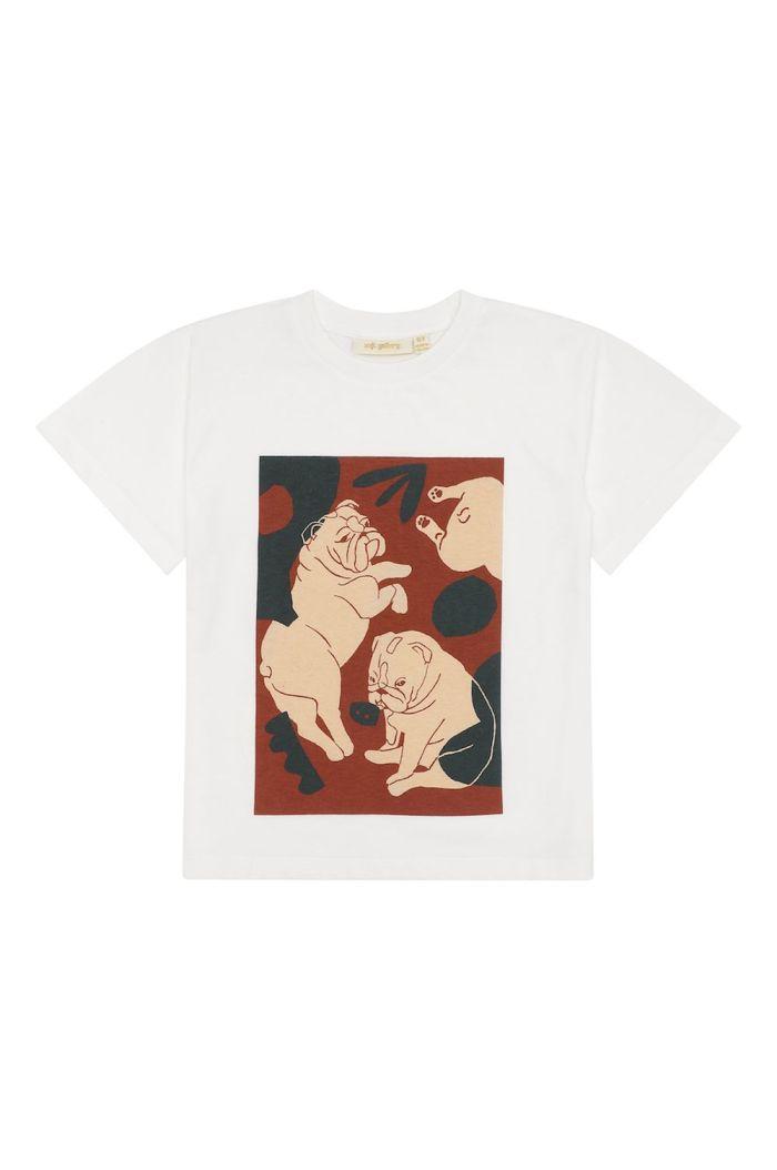 Soft Gallery Asger T-shirt Snow White, Bulldogs_1