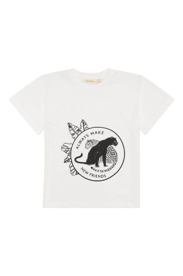 Soft Gallery Asger T-shirt Snow White, Leofriends blk_1