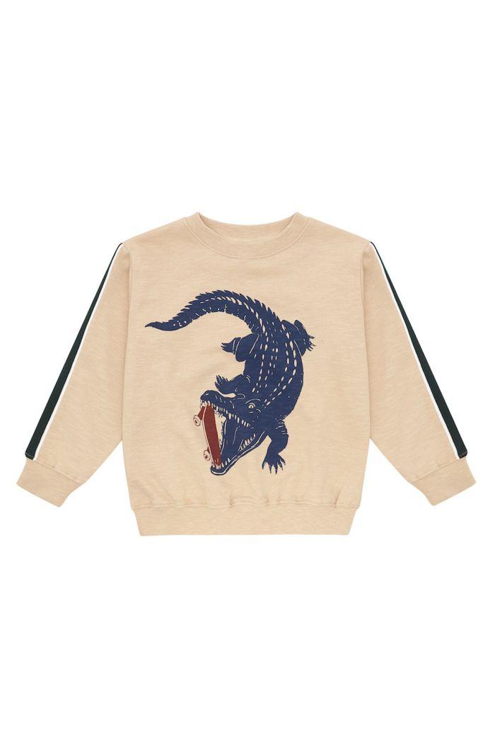 Soft Gallery Baptiste Sweatshirt Beige, Crocoskate_1