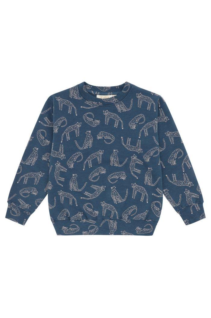 Soft Gallery Baptiste Sweatshirt Majolica Blue, All-over print Loeline_1
