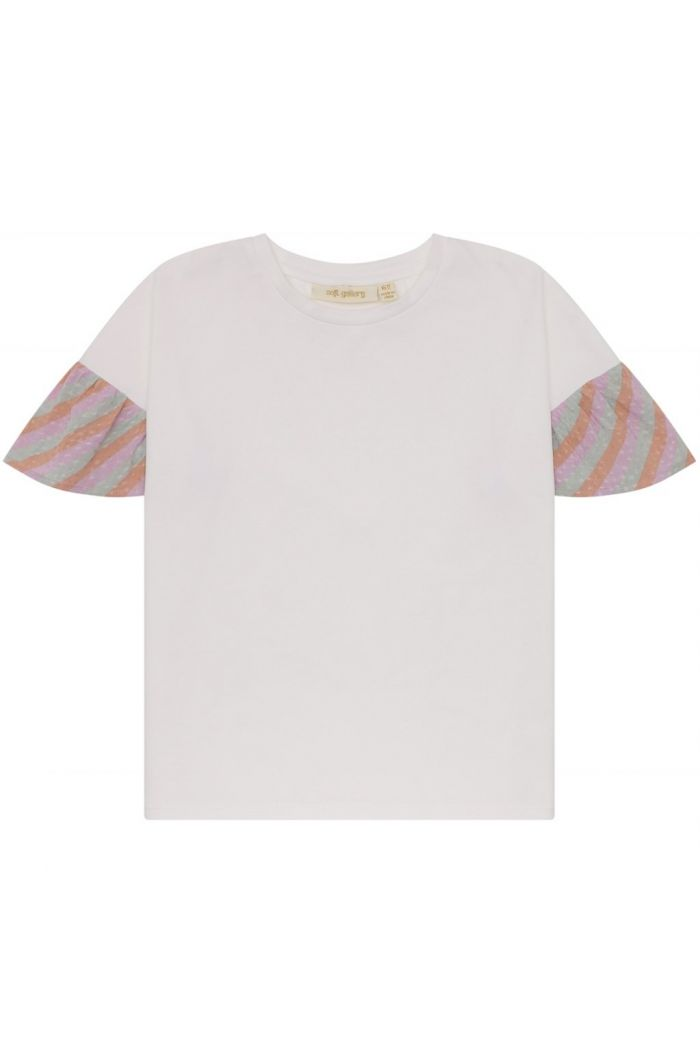 Soft Gallery Hilly T-shirt Dewkist, All-over print Candystripe_1