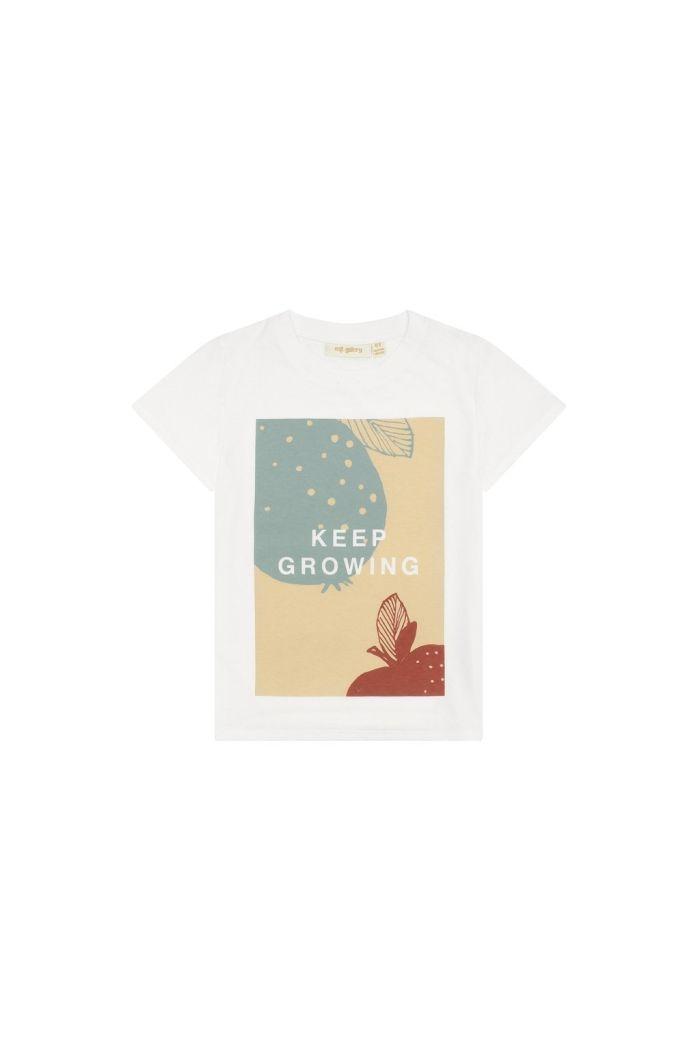 Soft Gallery Bass T-shirt Snow White, Grow_1