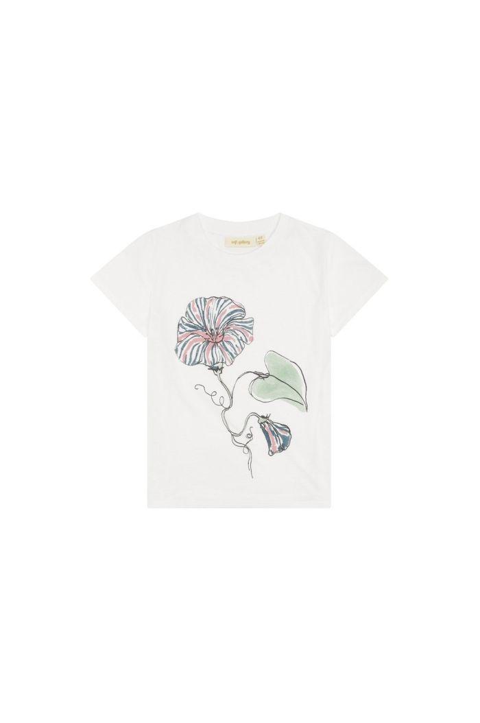 Soft Gallery Bass T-shirt Snow White, Primrose_1
