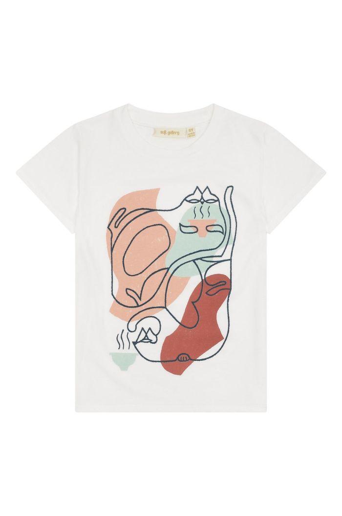 Soft Gallery Bass T-shirt Snow White, Leofriends blk_1