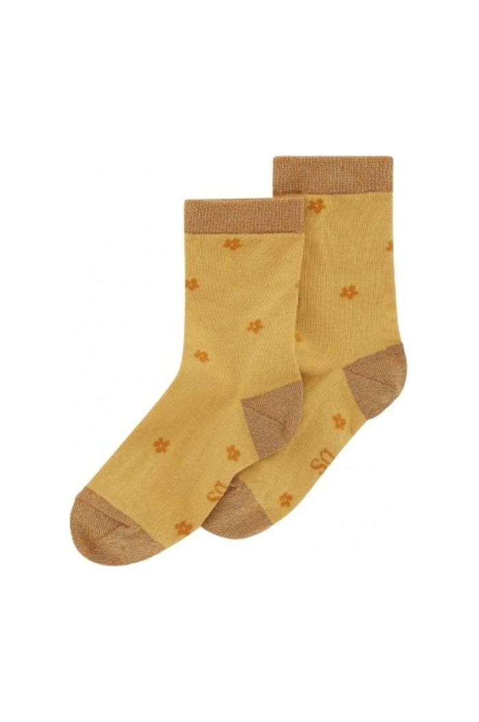 Soft Gallery Junior Girl Socks New Wheat , All-over print Posy_1
